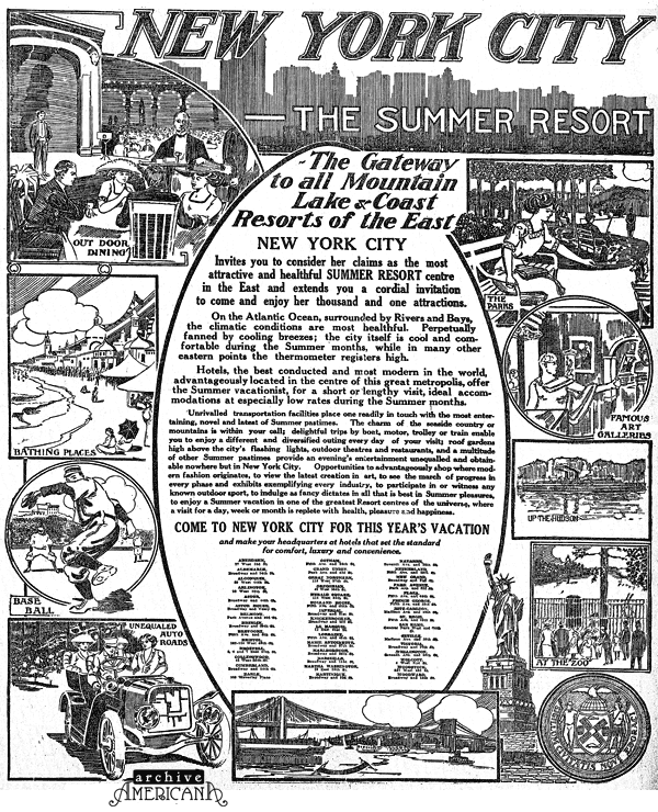 New York City: The summer resort! (1911)