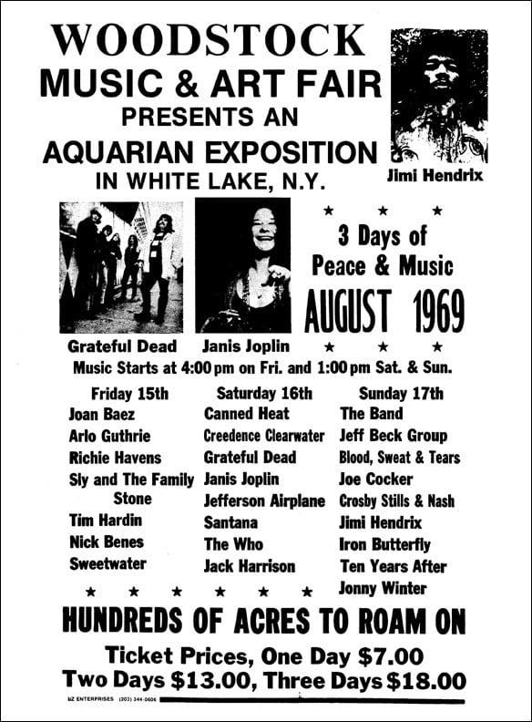 Woodstock Festival posters (1969)