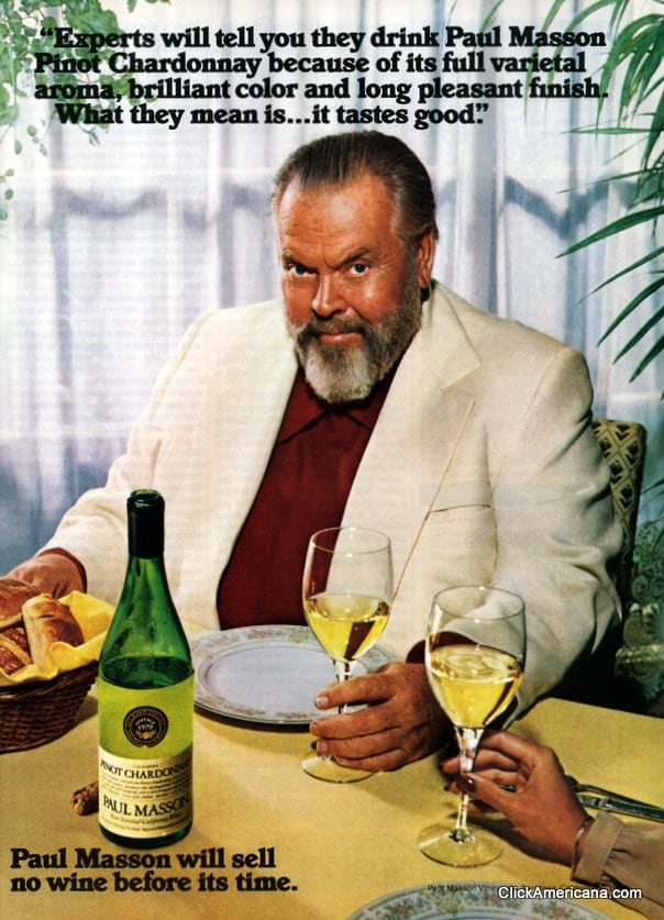 Orson Welles for Paul Masson