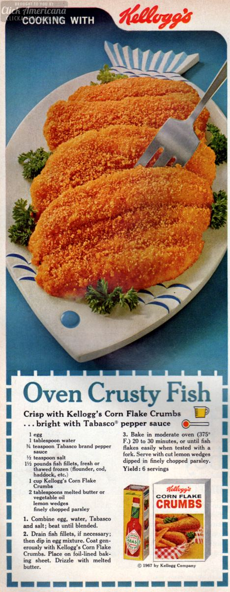 oven crusty fish recipe april-1967