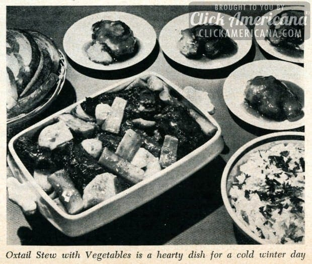 Oxtail stew with vegetables (1950)