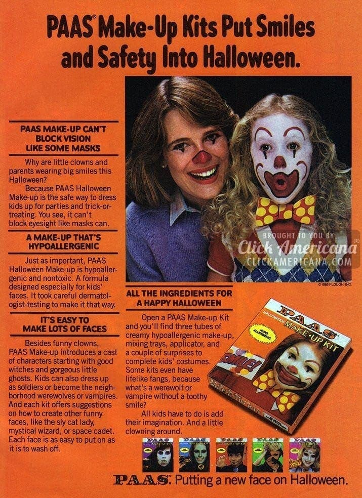 Putting a new face on Halloween: Paas makeup kit (1985)