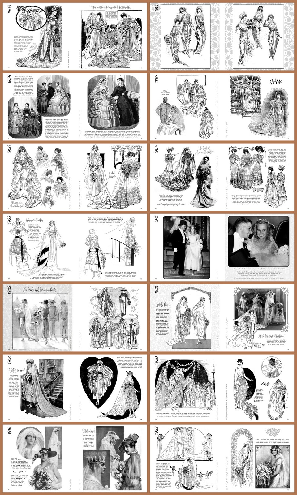 pages-Something Old Vintage Wedding Dress Fashion Look Book - Sample of pages