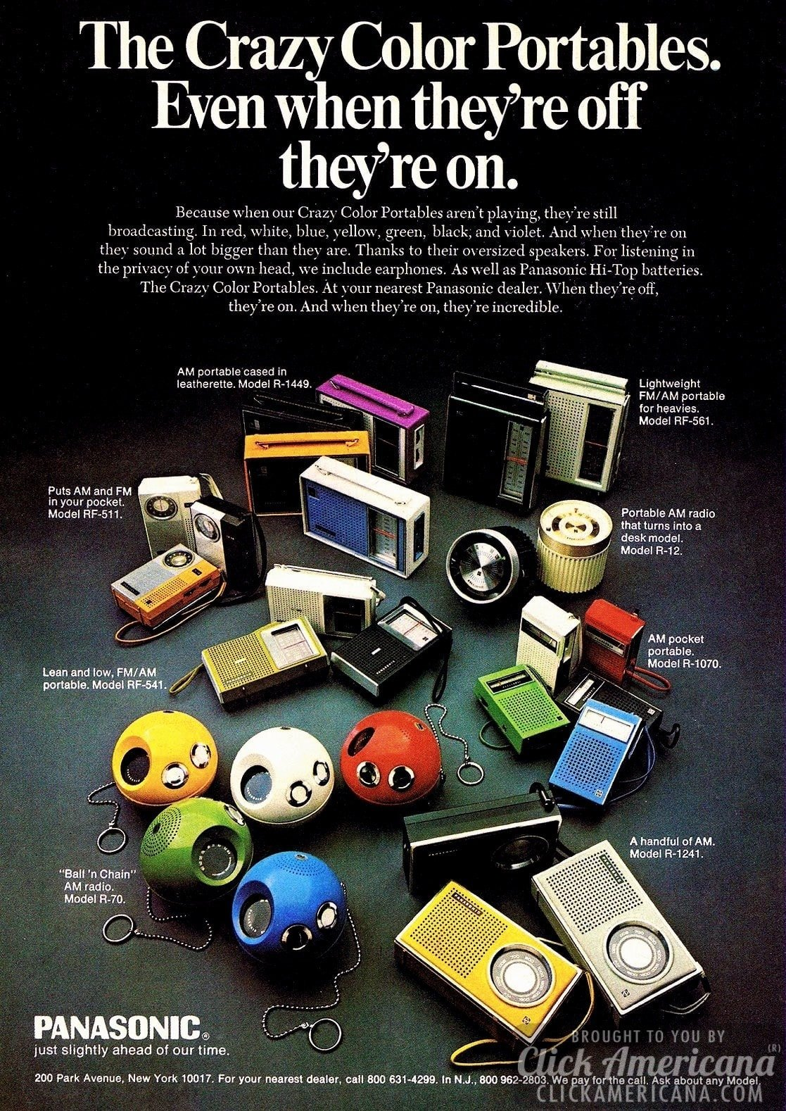 The crazy color portables.