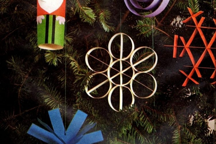 How To Craft Clever Christmas Ornaments From Paper 1960