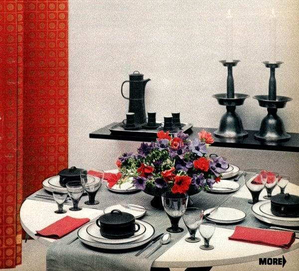Guide to easy entertaining: Table settings (1958)