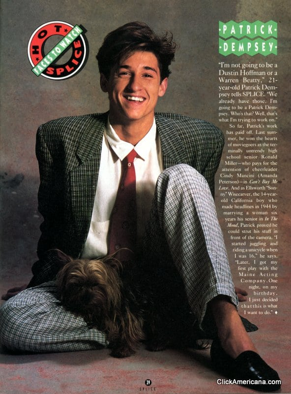 Faces To Watch Patrick Dempsey 1988 Click Americana