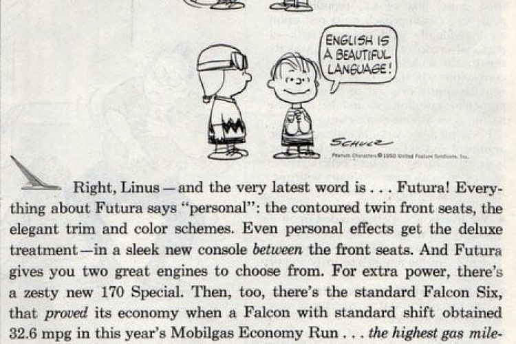 Charlie Brown & Linus for Ford Falcon Futura (1961) - Click