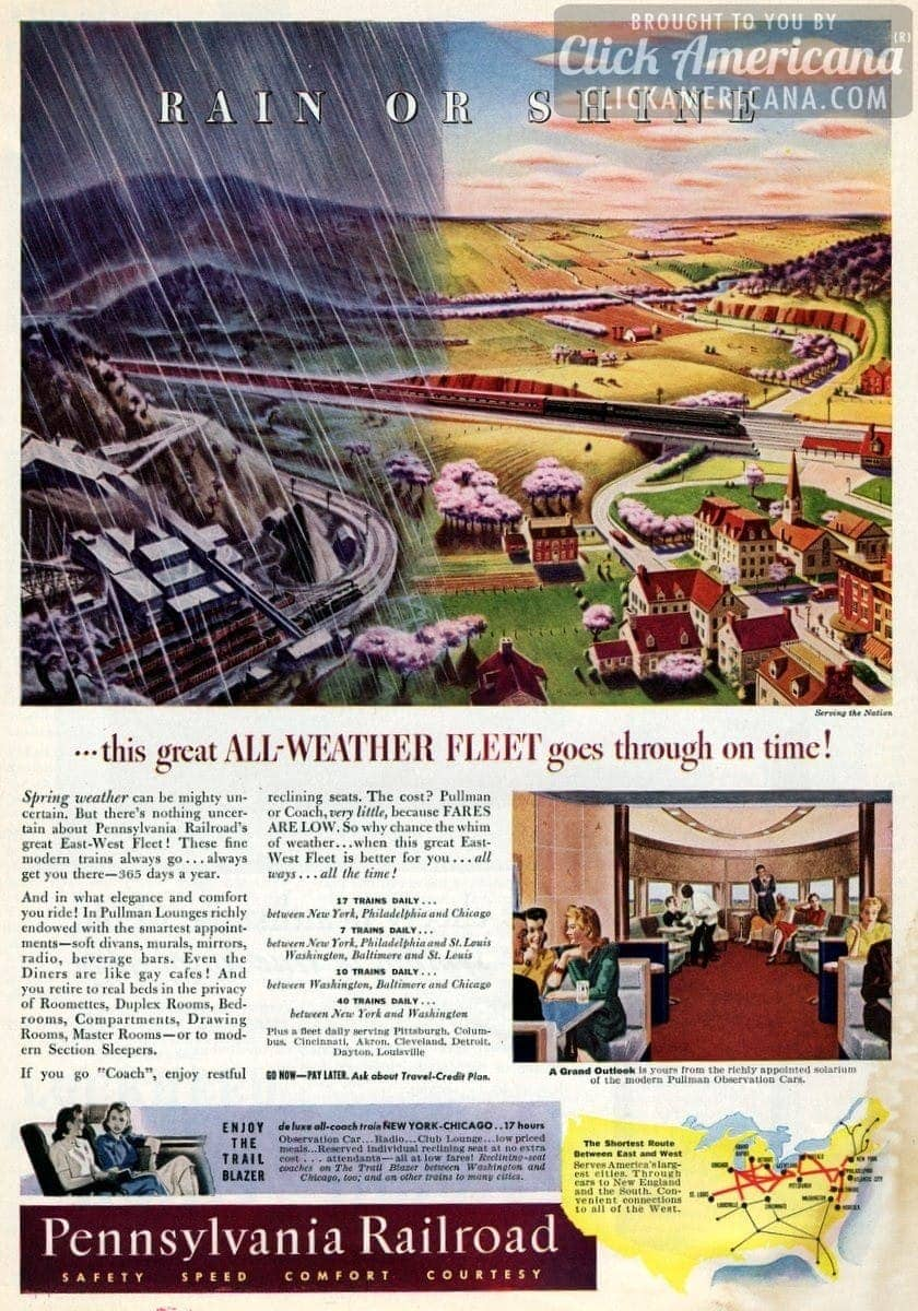 Pennsylvania Railroad's great East-West Fleet (1941)