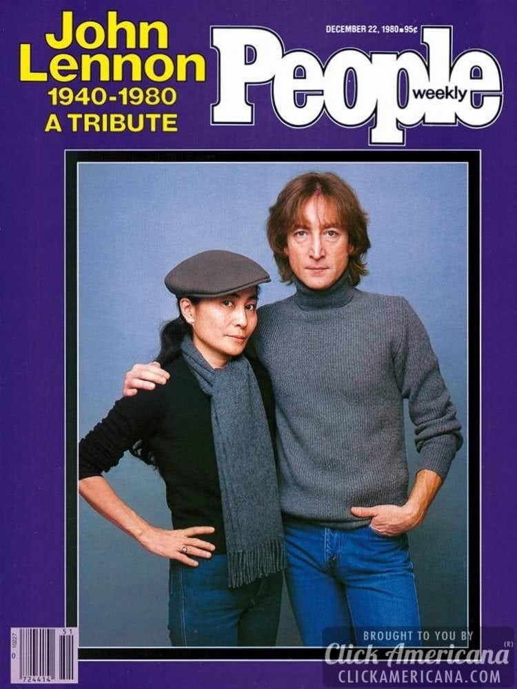 People magazine cover - 1980 - John Lennon tribute