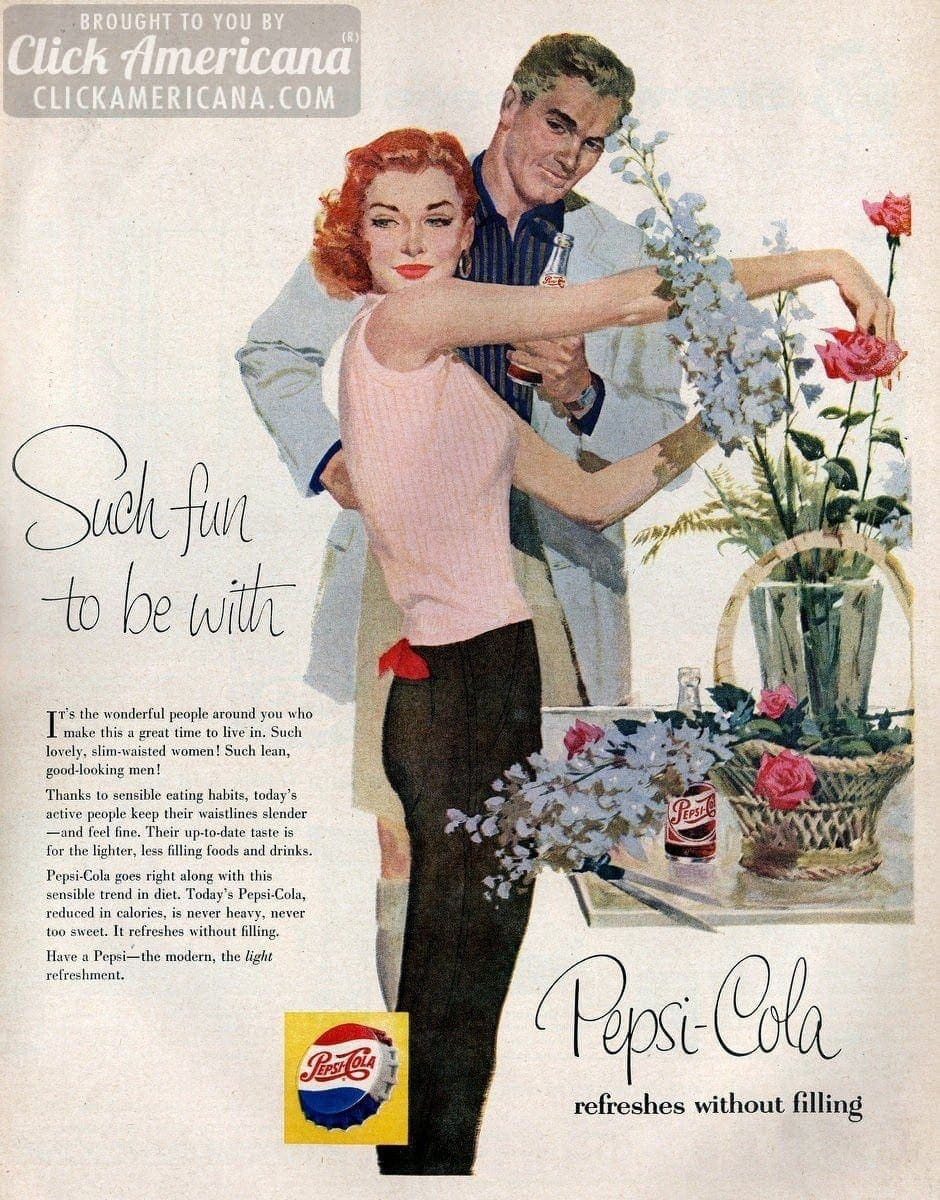 Why Pepsi Cola Keeps You Slim Ads From The 1950s Click