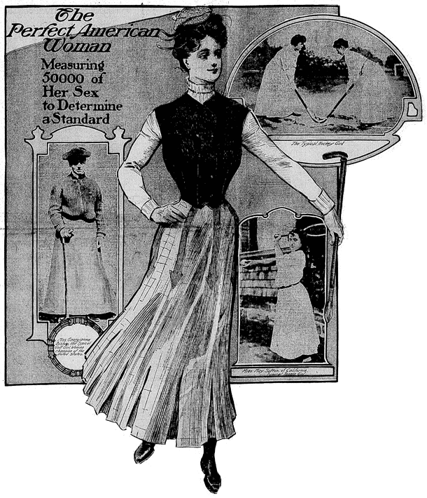 The perfect American woman (1905)