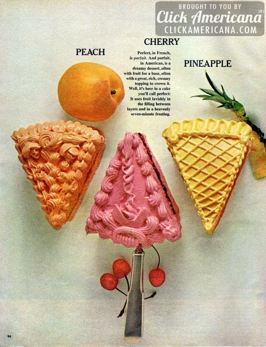 Perfect cakes: Peach, strawberry, lemon & more (1965)