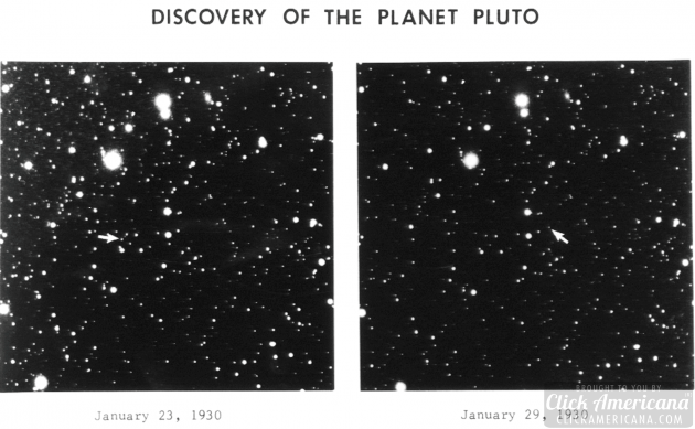 photographic plates that were used to discover Pluto