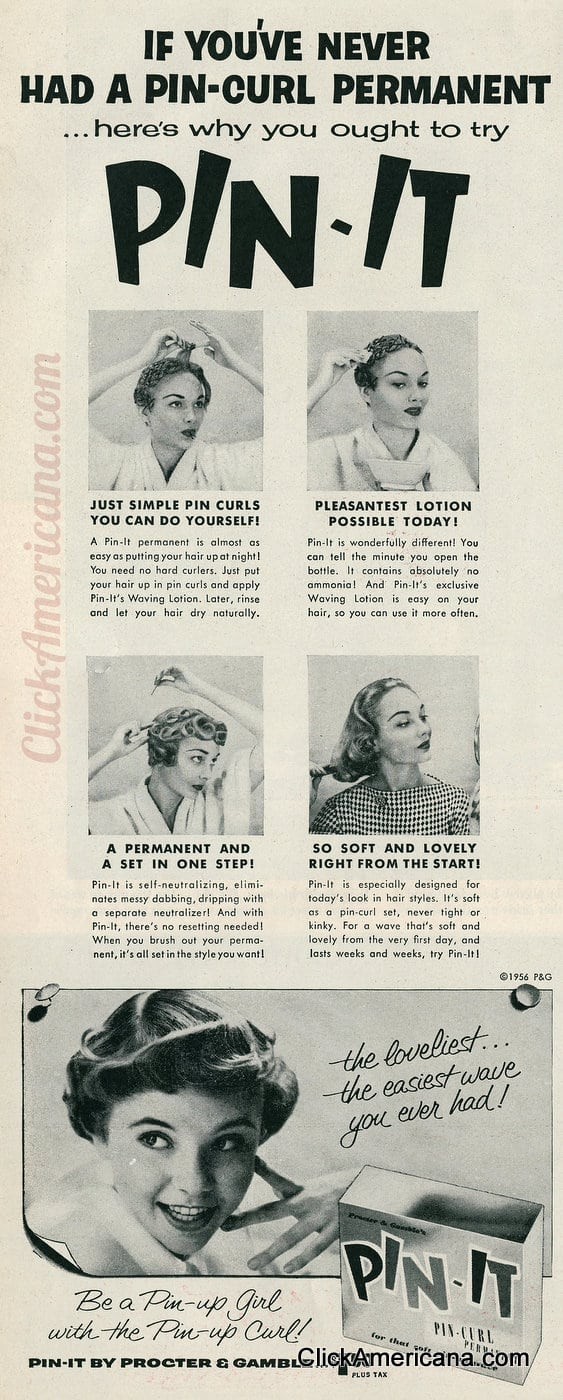 Be A Pin Up Girl With The Pin Up Curl 1956 Click Americana