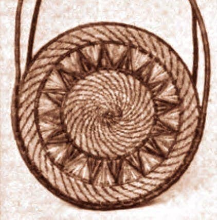Pine needle craft projects (1921)