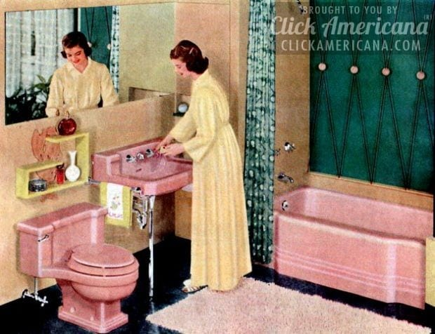 Retro Pink Bathroom Styles Of The 1950s Click Americana