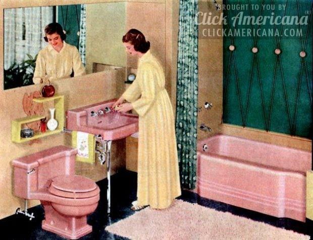 Vintage pink bathrooms:All the pink fixtures!