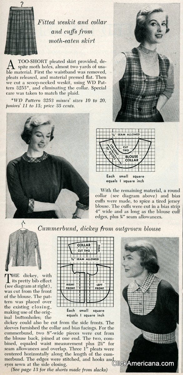New accessories from old plaids (1950)