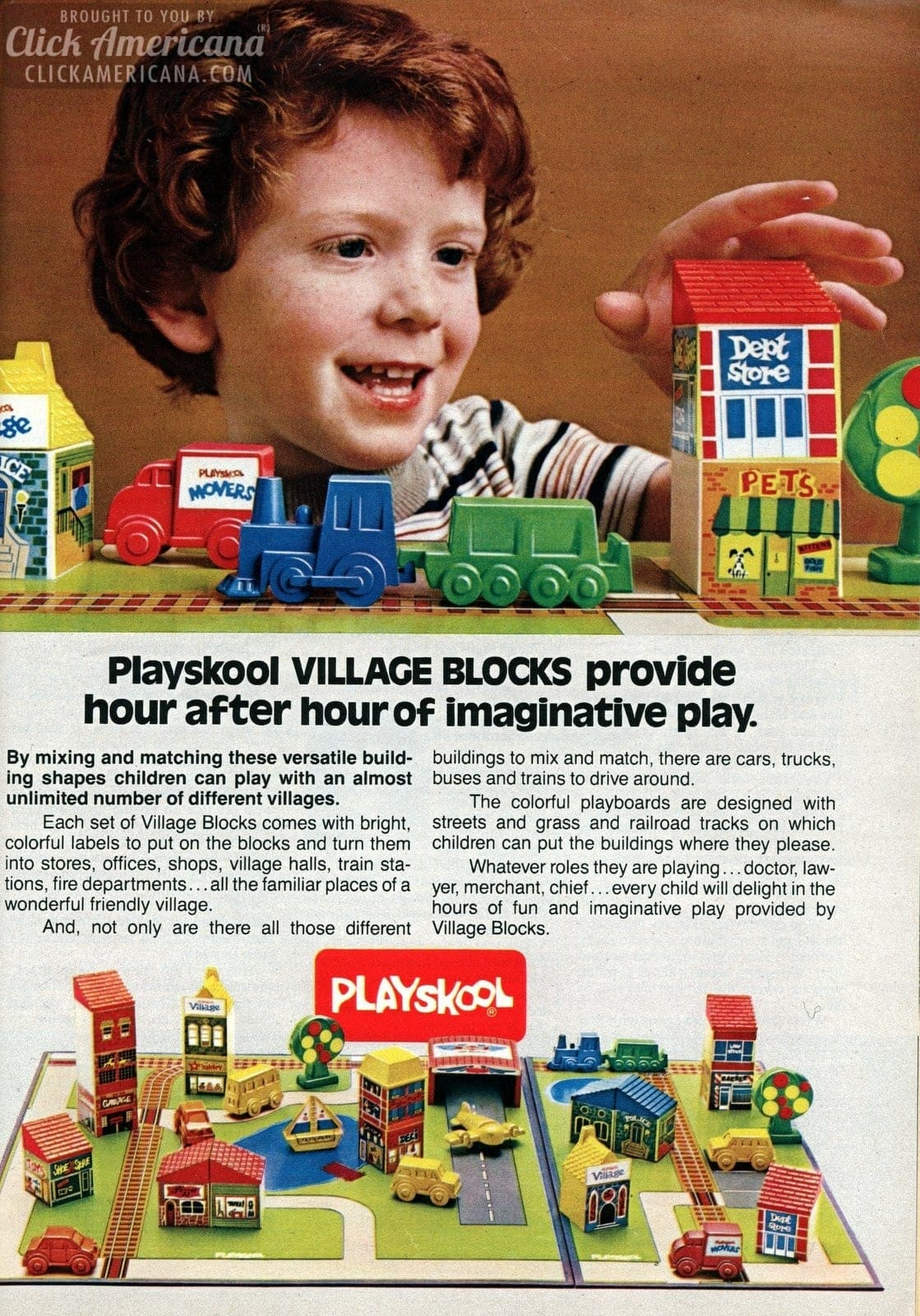 Playskool toy sets: Candy Land Kids & Village Blocks (1982 ...