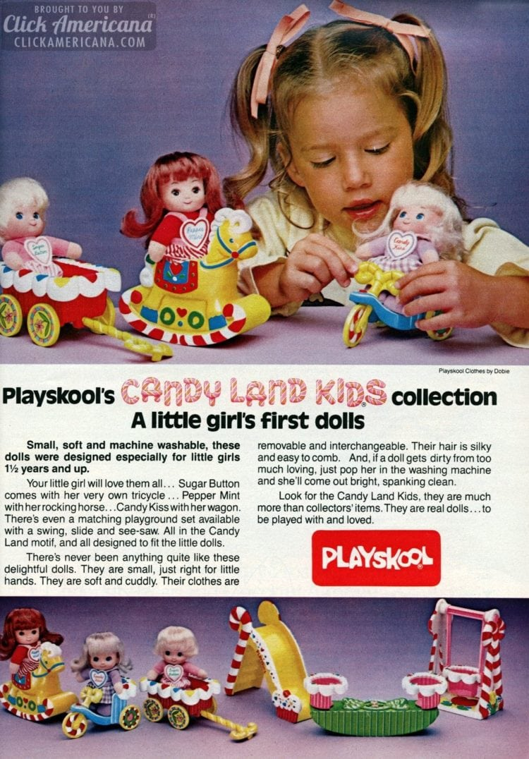 Candy Land toys and dolls vintage from 1982