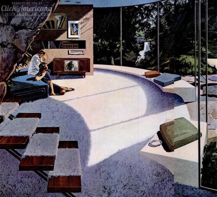 Retro futuristic homes and designs