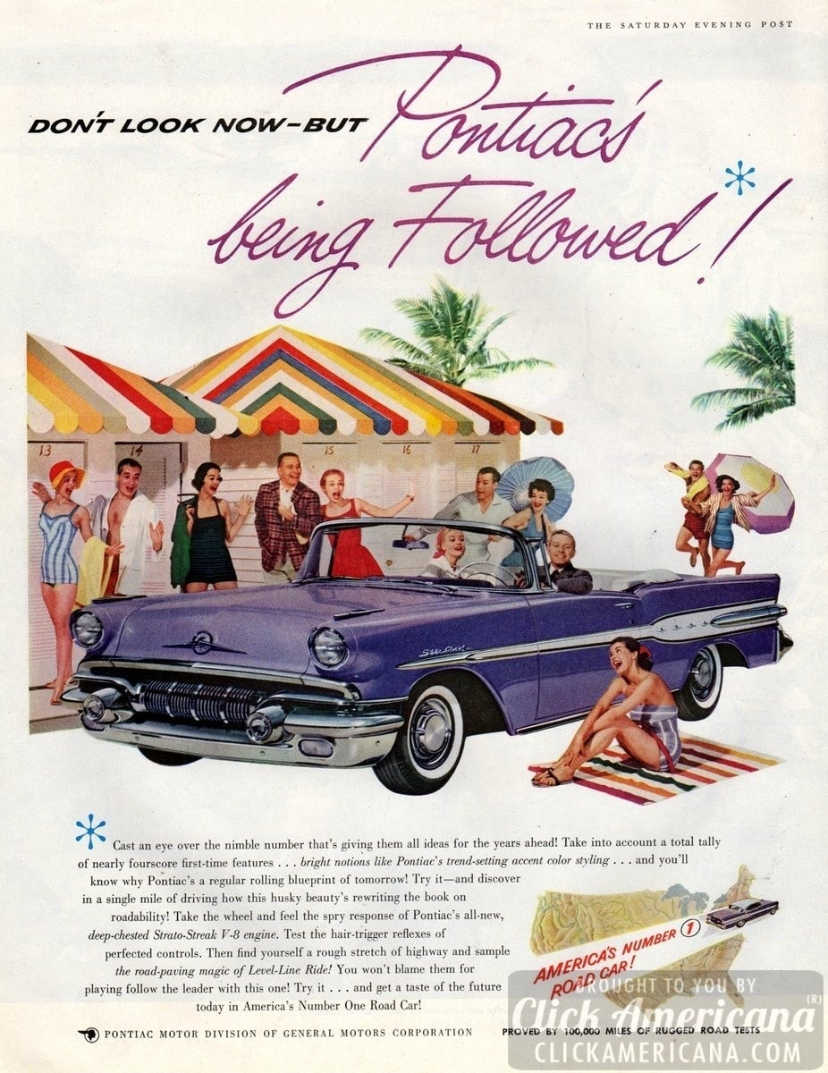 Wherever there's youth & fun, there's a '57 Pontiac!