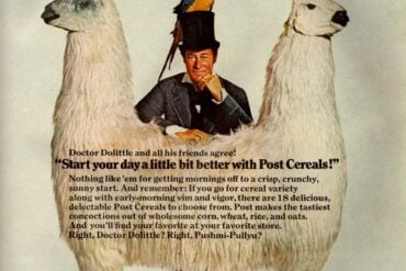 Doctor Dolittle, Pushmi-Pullyu & friends like Post cereals twice as much (1968)