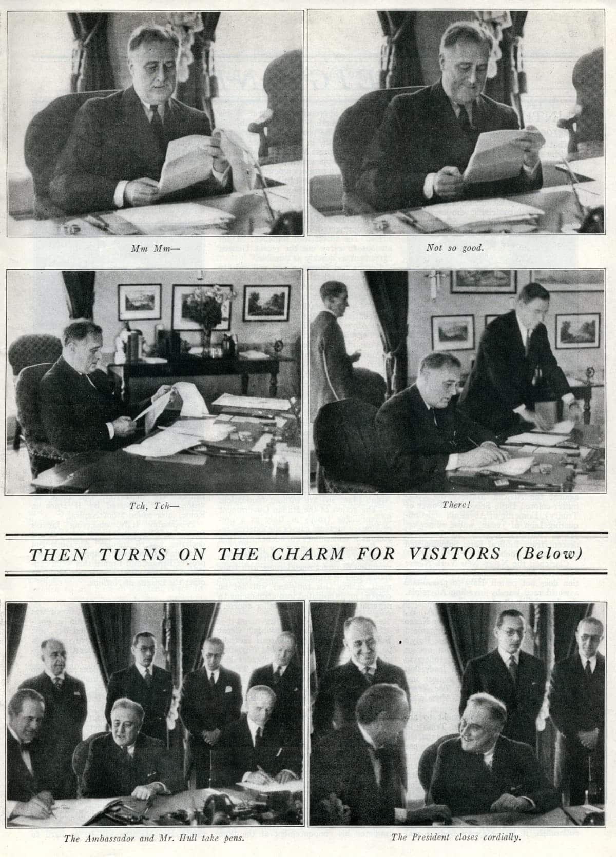 President Franklin D Roosevelt at work