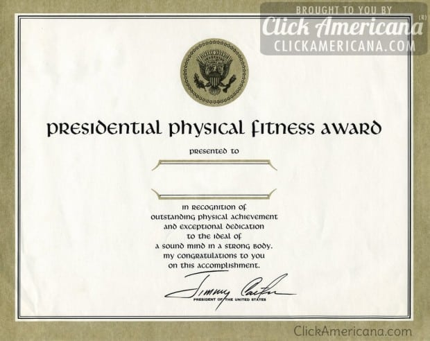 presidential-physical-fitness-award-certificate-jimmy-carter