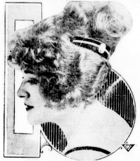 High-set Psyche knot is the latest hairstyle (1921)