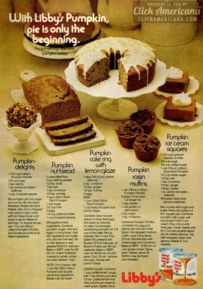 5 Perfectly delightful pumpkin recipes for fall (1971)