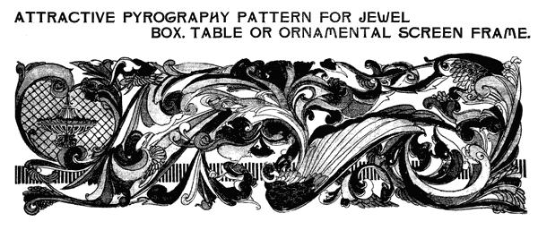 Scroll design pattern for crafts & decor (1903)
