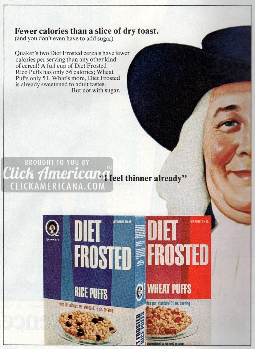 Diet Frosted Rice Puffs & Wheat Puffs (1967)