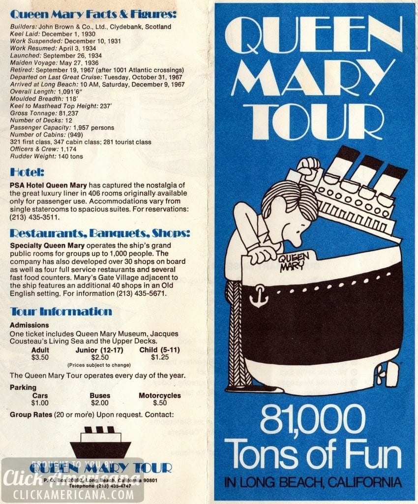 Queen Mary Tour: 81,000 tons of fun in Long Beach (1974)