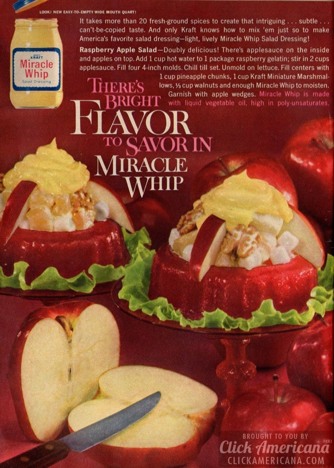 Raspberry Apple Salad with Miracle Whip (1962)
