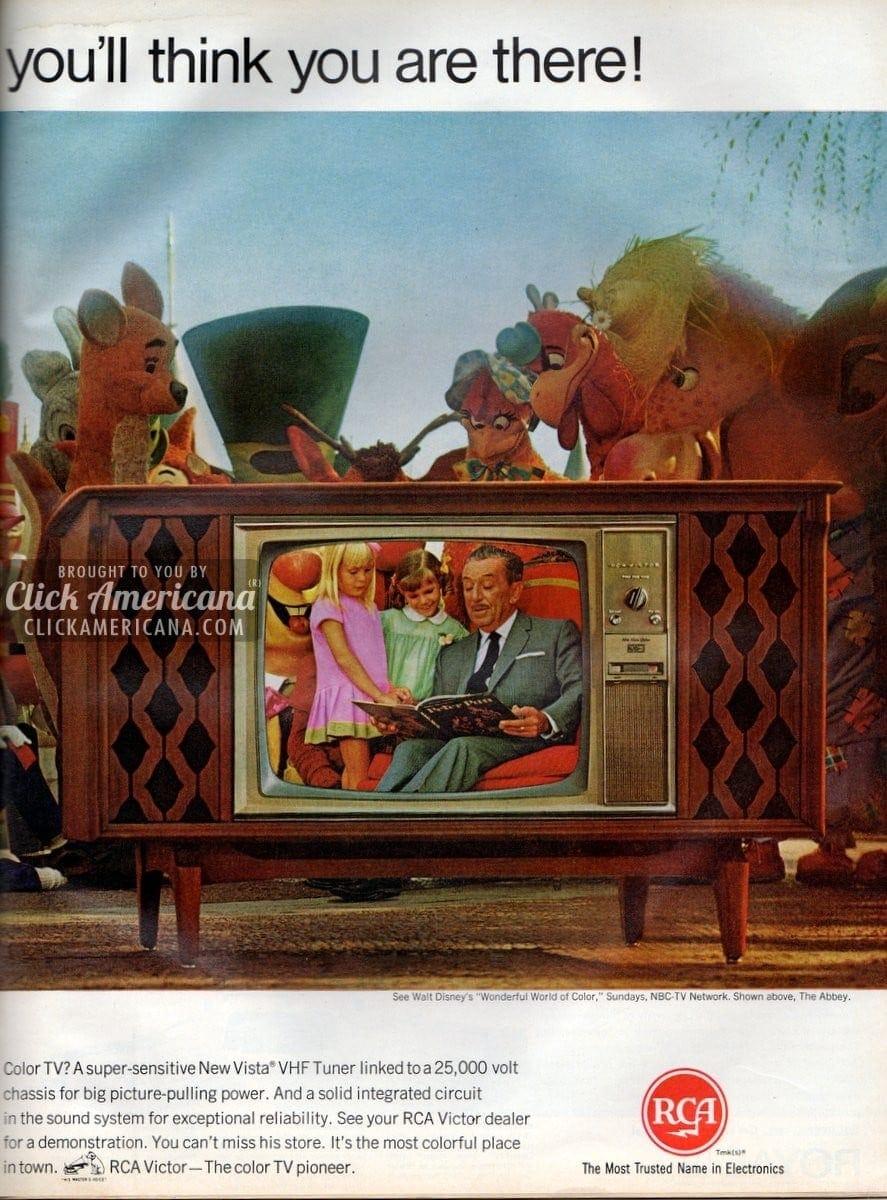 See RCA Victor's new big screen color TV (1966) - Click ...