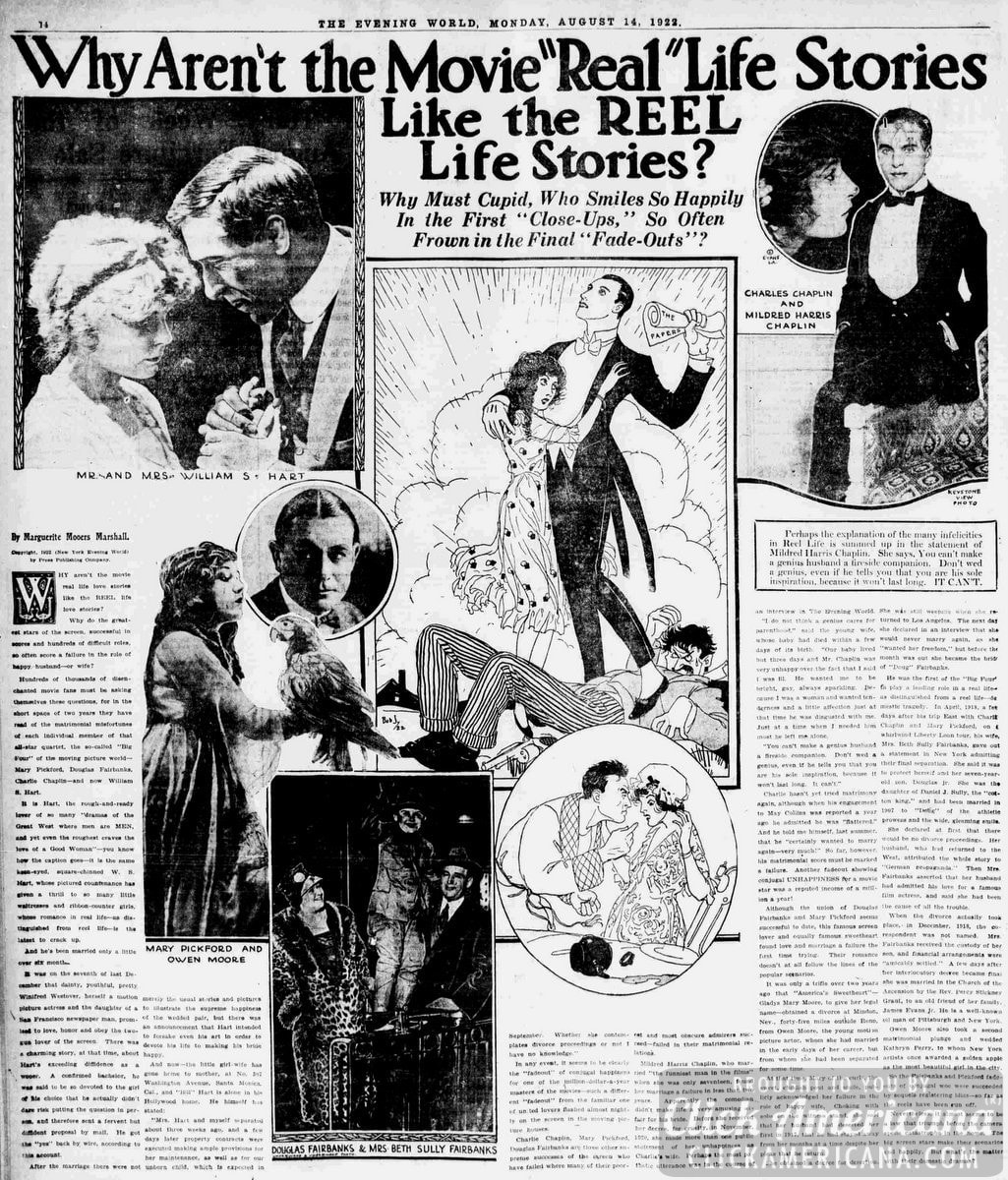Where reel life romance meets real life (1922)