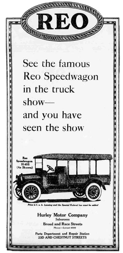 See the famous REO Speedwagon in the truck show...