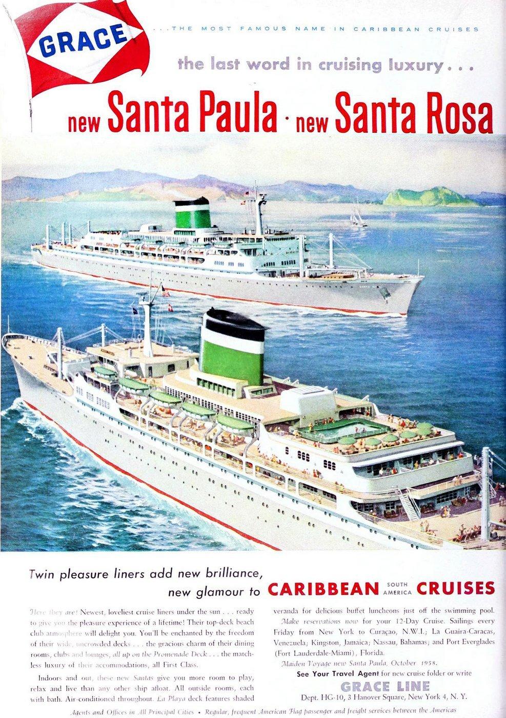 Grace Line cruise ships