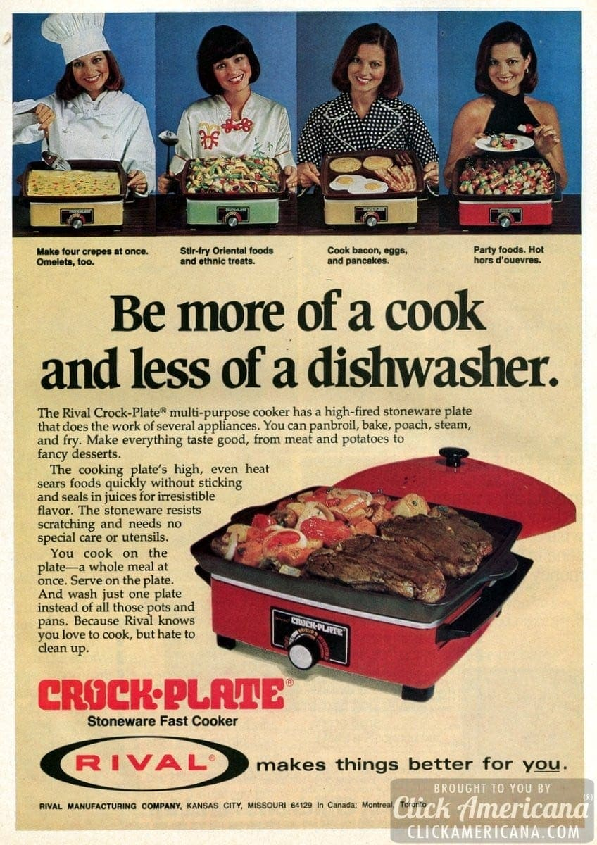 Rival Crock-Plate multi-purpose cooker (1977)