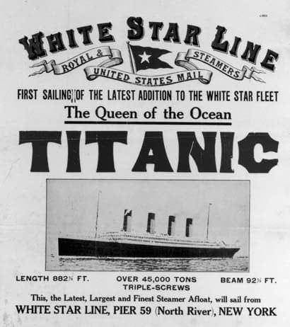 $10 million dollar Titanic's career ended by iceberg (1912)