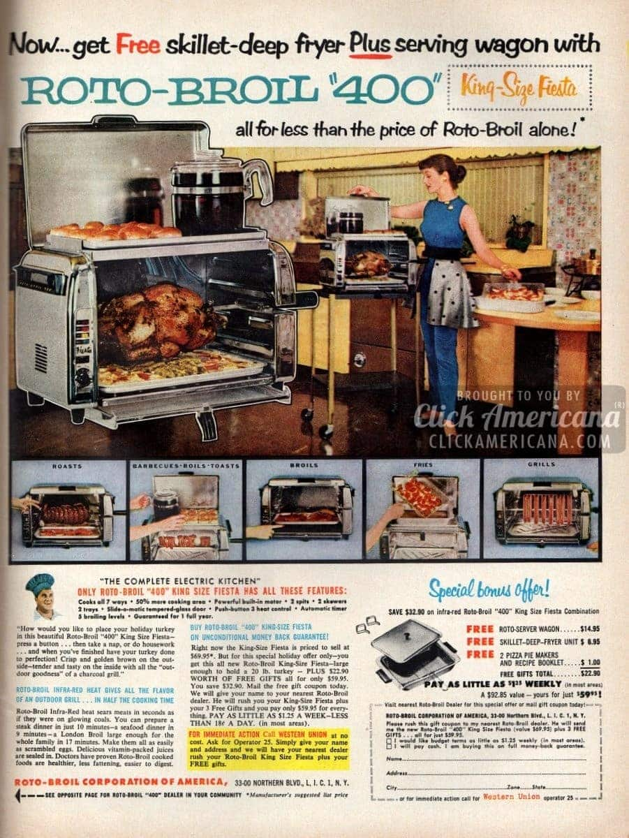 Have a King-size Fiesta with Roto-Broil 400 (1955)
