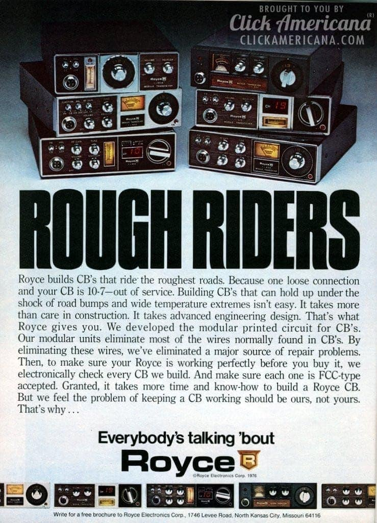 Everybody's talking 'bout Royce CB radios (1976)