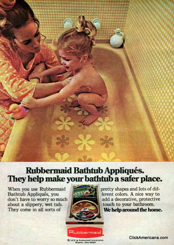 Flower Power No Slip Bathtub Decals 1969 1974 Click