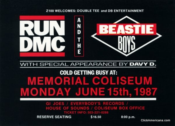 Run-DMC & Beastie Boys concerts (1987)