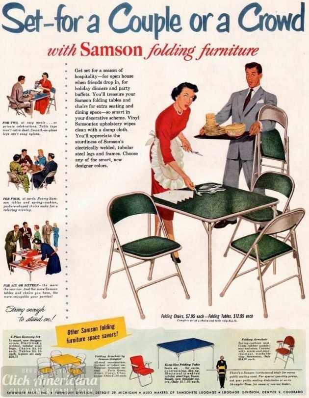 samson folding furniture 1950