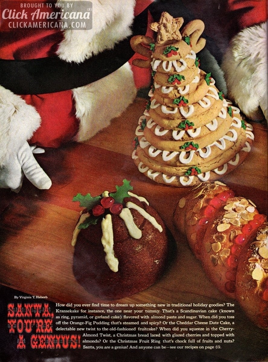 Delectable new twists on traditional holiday desserts (1965)
