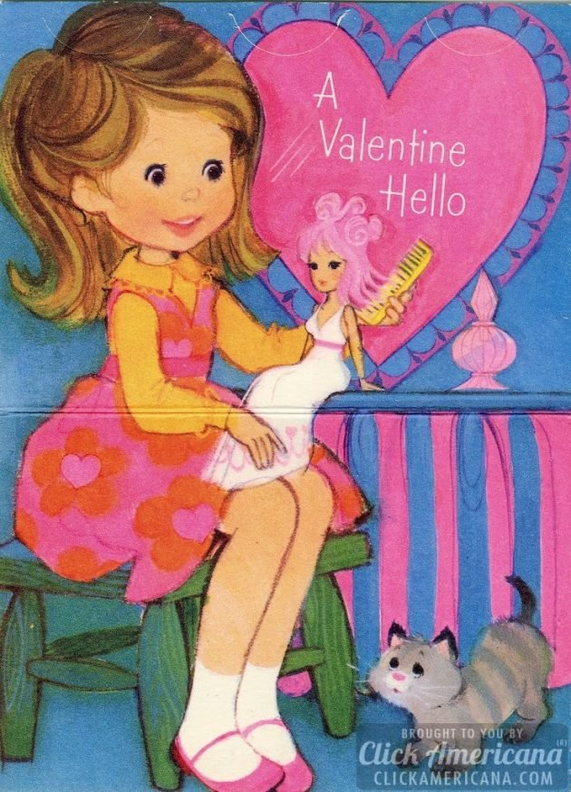 Retro pink girly Valentines from