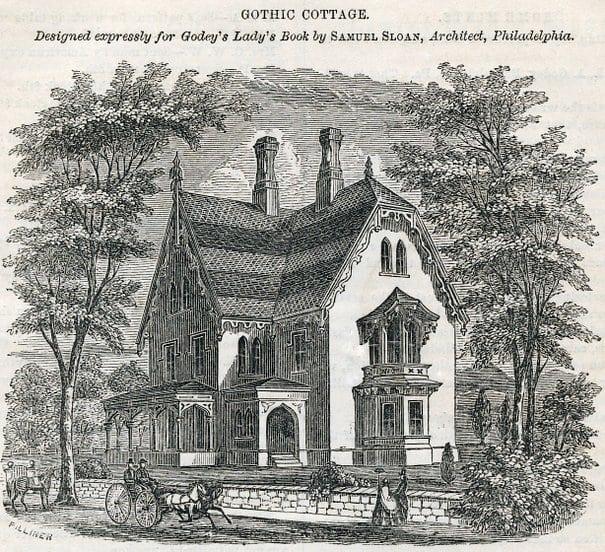 Antique Gothic Cottage Home Design 1862 Click Americana